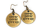 ПОСЛЕДНИЕ SALE Серьги «Never Never Give Up» - С297