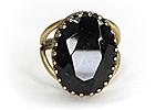 ПОСЛЕДНЕЕ Кольцо «Shape and Color (черный бриллиант)» - V222