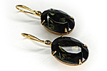 ПОСЛЕДНИЕ Серьги «Shape and Color» (черный бриллиант) - V223