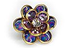 АРХИВ Брошь «Лиловый Цветок» - BR-002