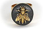 АРХИВ Кольцо «Время Пчел (African Ebony)» - W031