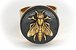ПОСЛЕДНЕЕ Кольцо «Время Пчел (African Ebony)» - W031