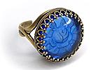 Кольцо «Сапфировая Роза» - V500