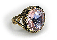 Кольцо «Розовый Сапфир» - V598