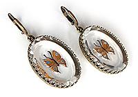 Серьги «Бабочки Шоколадницы» - V610