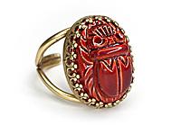 Кольцо «Красный Скарабей» - V615
