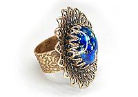 Кольцо «Глаз Дракона (синий опал)» - V628