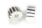 Бусина стоппер (имитация серебра) О-022