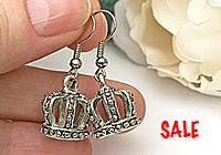 SALE ПОСЛЕДНИЕ Серьги «Короны» - С608