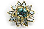 АРХИВ Брошь «Голубой Цветок» - BR-004