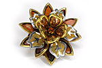 АРХИВ Брошь «Шоколадный Цветок» - BR-005