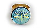 АРХИВ Кольцо «Бирюзовая Стрекоза» - V040