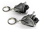 АРХИВ Серьги «Розы» (черный агат) - С541