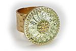 АРХИВ Кольцо «Лимонный Подсолнух» - V315
