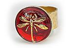 АРХИВ Кольцо «Огненная Стрекоза» - V486