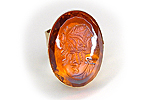 ПОСЛЕДНЕЕ Кольцо «Янтарная Камея» (коллекционное стекло) - V552