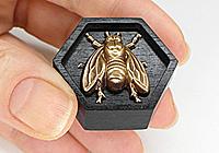 Кольцо «Каждой Пчеле - по Соте» - African Ebony - W039