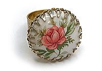 ОДИН ЭКЗ Кольцо «Японская Роза» - V709