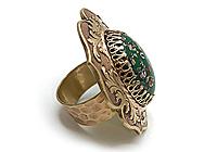 Кольцо «Зеленое Миллефиори» - V718