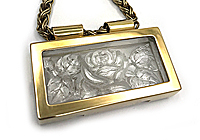 АРХИВ ОДИН ЭКЗ Колье «Флора» (коллекционное стекло) V732