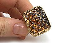 АРХИВ Кольцо «Золотой Топаз» - V739