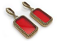 Серьги «Красный Рубин» - V741