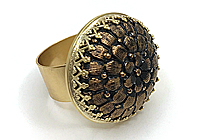 Кольцо «Медный Цветок» - V744