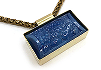 ОДИН ЭКЗ Колье «Фрукты» (коллекционное стекло) V747
