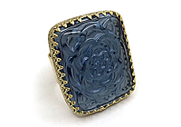 АРХИВ Кольцо «Сапфировый Цветок» - V756
