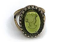 АРХИВ Кольцо «Оливковая Камея Intaglio» - V767