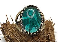 ОДИН ЭКЗ Кольцо «Морская Волна (винтажное стекло)» - V808