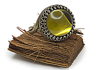 АРХИВ Кольцо «Олива (винтажное стекло)» - V811