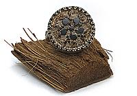 АРХИВ Кольцо «Викторианский Цветок (винтажное стекло)»V817