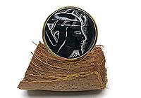 ОДИН ЭКЗ Кольцо «Черный Фараон (винтажное стекло)» - V841