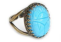 АРХИВ Кольцо «Голубой Скарабей» - V-351