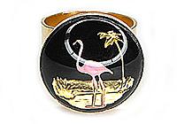 ПОСЛЕДНЕЕ Кольцо «Фламинго (винтажное intaglio)» - V095