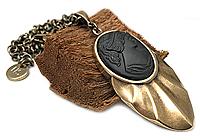 Кулон «Черная Камея (винтажное стекло)» - V909