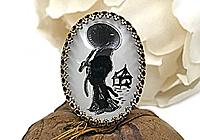 АРХИВ Кольцо «Азиатская Погода (винтажное intaglio)» - V910