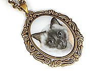 АРХИВ Кулон «Сиамская Кошка» - V161