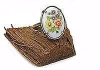 АРХИВ Кольцо «Букет (винтажный кабошон)» - V264