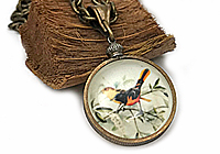 Кулон «Птичка на Ветке» - V611