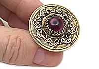 АРХИВ Кольцо «Скифский Аметист» (винтажный кабошон) - V929