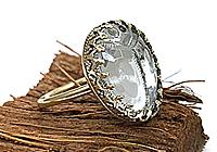 Кольцо «Скарабей (винтажный кабошон)» - V950