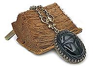 Кулон «Викторианский скарабей» (винтажный кабошон)-V967