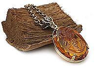 НА ЗАКАЗ Кулон «Медовая Камея (винтажный кабошон)»V988