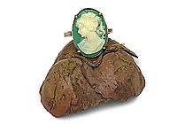 Кольцо «Зеленая Камея (винтажный кабошон)» - V1023