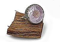 ОДИН ЭКЗ Кольцо «Аметистовый Подсолнух (богемская пуговица)»1040